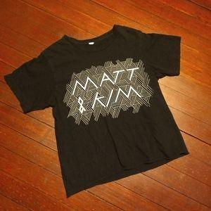 MATT & KIM T-SHIRT 👕 Music Tee Band Shirt Small